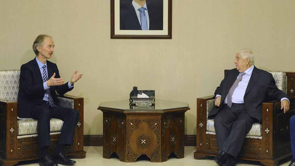 بيدرسون في دمشق لبحث إمكانية التقدم في العملية السياسية style=